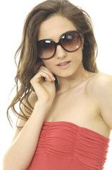 young beautiful woman wearing sunglasses