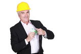Man pulling money out of his pocket
