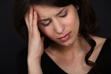Women suffering from headache