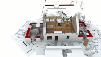 Maison Bretagne animation construction