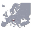 Europakarte Österreich
