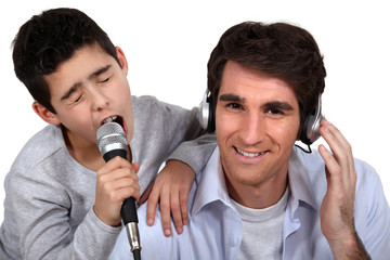 Father and son musical duo