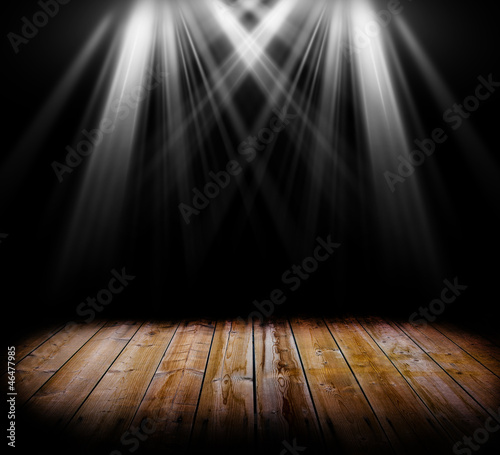 Lighting on a wooden floor