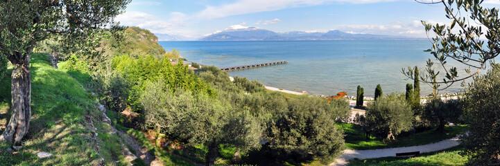 Panoramafoto Gardasee mit Monte Baldo