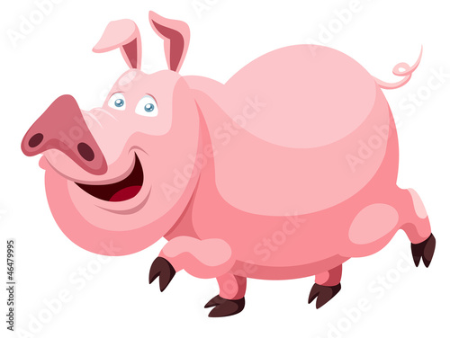 illustration of Cartoon pig Vector