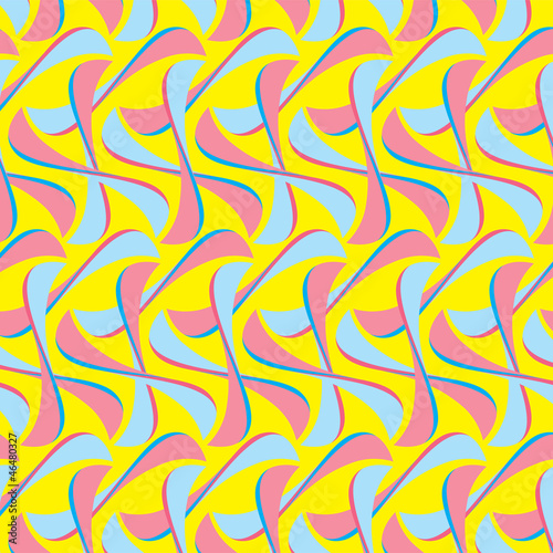 In de dag Psychedelic Optical Illusion Seamless Pattern for Hotel, Home and Villa