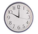 isolated white clock at ten