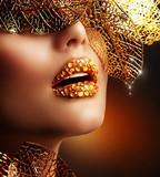 Fototapete Makeup - Luxury - Frau