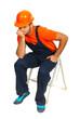 Sad constructor worker