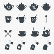 Set of tea objects. Vector