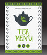 Tea menu. Vector