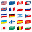 Set of World flags icons
