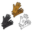 Gloves leather fashion skin suede finger hand