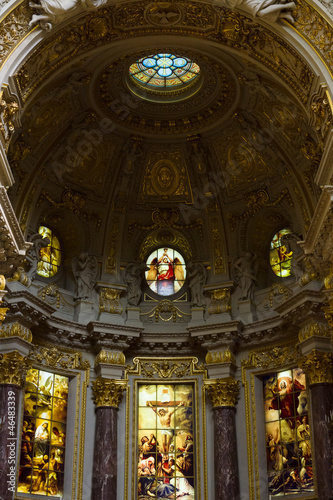 Berlin Cathedral (Berliner Dom). Interior.