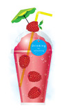 Vector raspberry smoothie