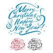 Merry Christmas Happy New Year winter holidays