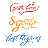 Best regards sincerely yours with love signature