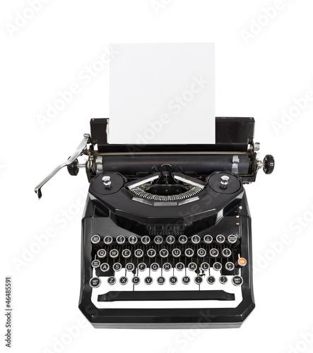 Classic Black Typewriter