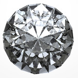 Round diamond from top side isolated with clipping path