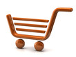 Orange shopping basket sign