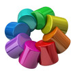 Creative concept of color wheel