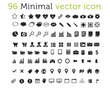 96 Minimal vector icons