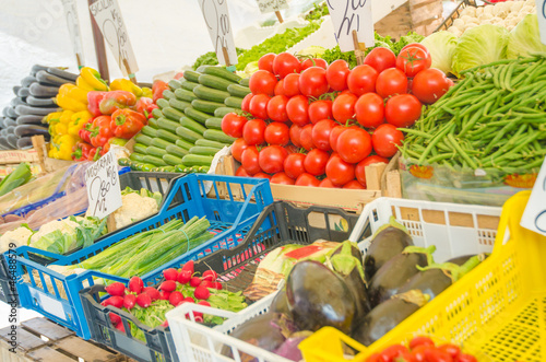 Fruits and vegetables at the market stall