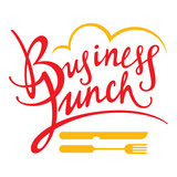 Business Lunch fork knife food breakfast decorative sign poster