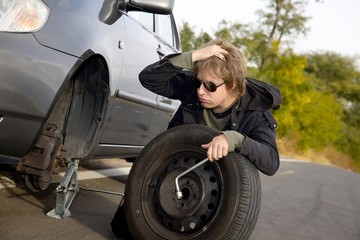 Changing tires