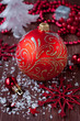 Christmas red ball and decoration