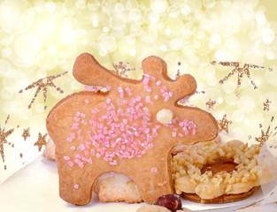 Frohe Weihnachten: leckere, selbstgebackene Plätzchen