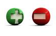 3D Plus and Minus Symbols