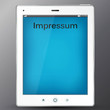 pad tablet pc with background impressum