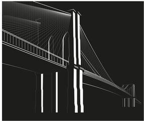 vector_Brooklyn Bridge