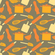 Seamless Kitchen Items Pattern