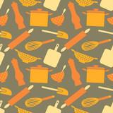 Seamless Kitchen Items Pattern