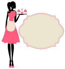 Retro Cupcake Girl