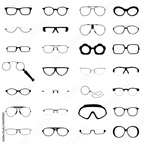 verschiedene Brillen