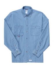 Мкжская, джинсовая рубашка.