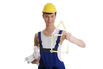 Young construction man