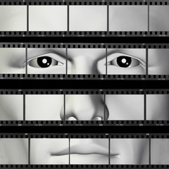 man portrait filmstrip