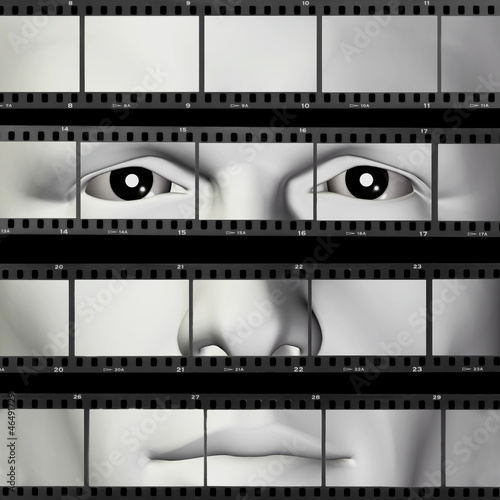 man portrait filmstrip
