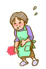 膝痛に苦しむお母さん