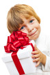 Little Boy holding present box
