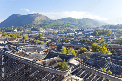 Lijiang old town in the morning, the UNESCO world heritage in Yu