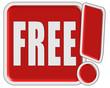 !-Schild rot quad FREE