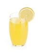 Lemon juice glass with lemon slice