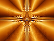 Gold abstract fractal