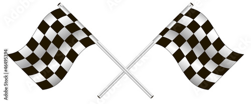 checkered flag. vector