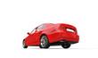 Red Sedan Back View